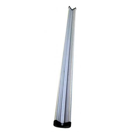 Binario alluminio Padova 1200 mm v.grigio c/2 cuffie
