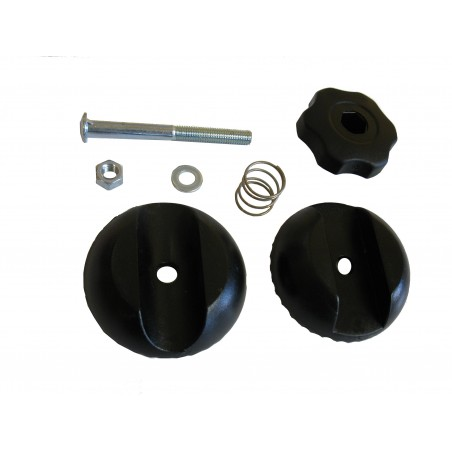 25 mm diameter square-round knob assembly system