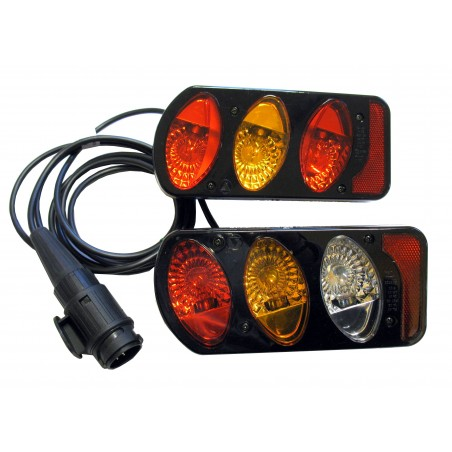 2  rear lights complete of 13 pin plug cable