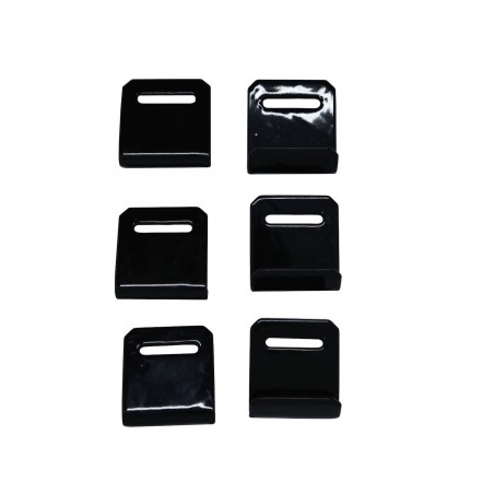 6 zink plated steel hooks